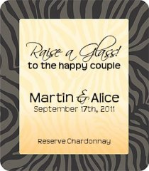 Custom Wedding Wine Label Example