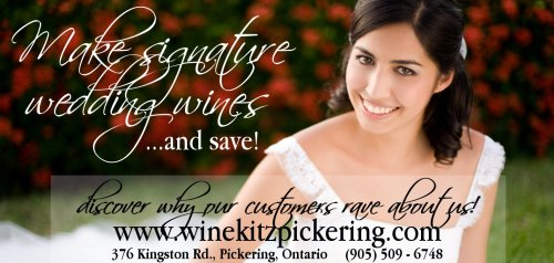 Wine Kitz Pickering wedding ad