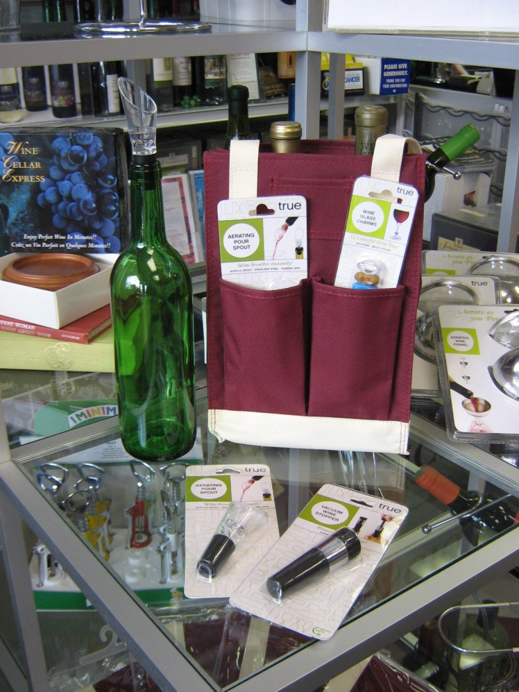 canvas 2-bottle wine tote