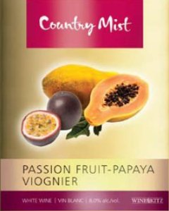 passionfruit-papaya viognier country mist wine kit