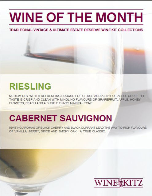 July 2011 Wines of the Month