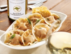 Wine Kitz recipes - butternut squash ravioli with sage brown butter