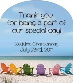 McDay customlabel - beach wedding