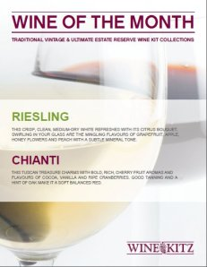 Wine Kitz Pickering Wines of the Month - March 2012