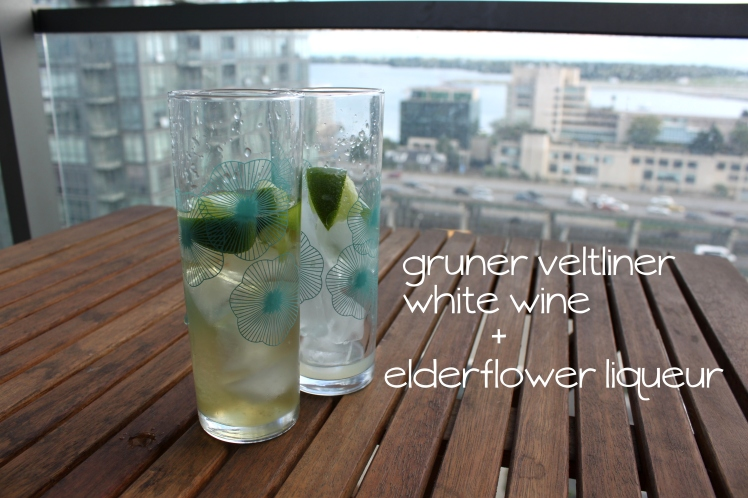 Elderflower Lime Wine Spritzer