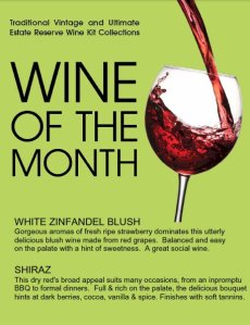 Wine Kitz wines of the month - September 2012