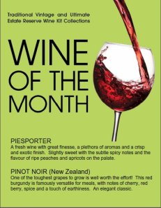 Wines of the Month - October 2012