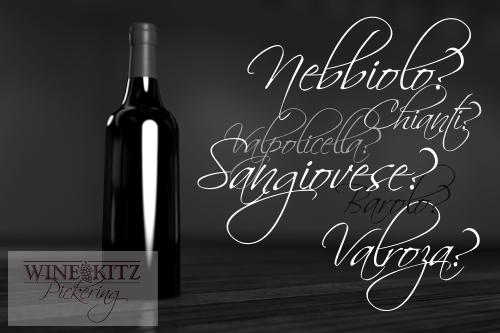 Wine Kitz Italian Wines Names