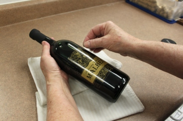 Removing Wine Labels
